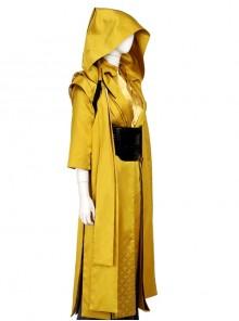 Doctor Strange Ancient One Halloween Cosplay Costume Yellow Hooded Cloak