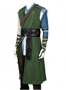 Doctor Strange Baron Mordo Halloween Cosplay Costume Green Long Vest