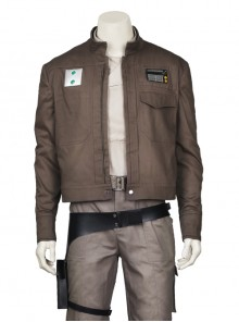 Rogue One A Star Wars Story Chirrut Imwe Halloween Cosplay Costume Brown Short Jacket