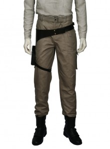 Rogue One A Star Wars Story Chirrut Imwe Halloween Cosplay Costume Brown Trousers