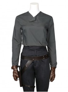Rogue One A Star Wars Story Jyn Erso Halloween Cosplay Costume Gray Long Sleeve Bottoming Shirt