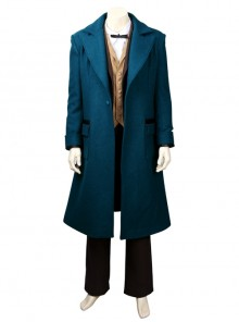Fantastic Beasts And Where To Find Them Newt Scamander Halloween Cosplay Costume Full Set