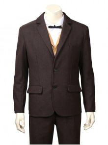 Fantastic Beasts And Where To Find Them Newt Scamander Halloween Cosplay Costume Brown Suit Jacket
