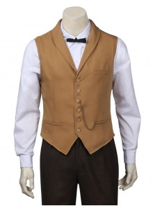 Fantastic Beasts And Where To Find Them Newt Scamander Halloween Cosplay Costume Brown Vest