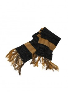 Fantastic Beasts And Where To Find Them Newt Scamander Halloween Cosplay Accessories Yellow And Gray Stripe Scarf