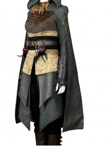 Assassin's Creed Sophia Halloween Cosplay Costume Gray Cloak Without Hood