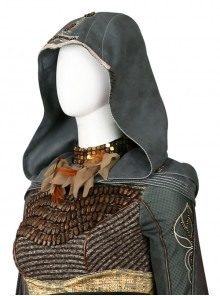 Assassin's Creed Sophia Halloween Cosplay Costume Hood Shoulder Pads