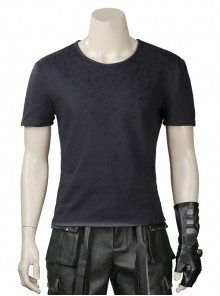 Final Fantasy XV Noctis Lucis Caelum Halloween Cosplay Costume Dark Gray Short Sleeve Bottoming T-shirt