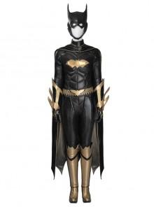 Game Batman Arkham Knight Batgirl Halloween Cosplay Black-golden Costume Full Set