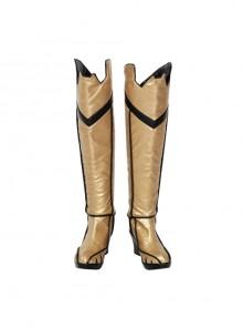 Game Batman Arkham Knight Batgirl Halloween Cosplay Shoes Golden Boots