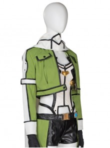 Japanese Anime Sword Art Online Asada Shino Halloween Cosplay Costume Green Jacket And Armband