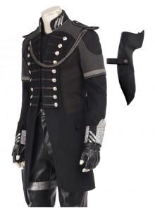 CG Movie Kingsglaive Final Fantasy XV Nyx Ulric Halloween Cosplay Costume Mid Length Black Jacket And Scabbard