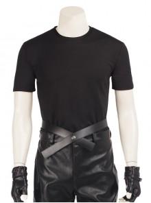 CG Movie Kingsglaive Final Fantasy XV Nyx Ulric Halloween Cosplay Costume Black Short Sleeve T-shirt