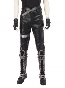 CG Movie Kingsglaive Final Fantasy XV Nyx Ulric Halloween Cosplay Costume Black Pants And Holster