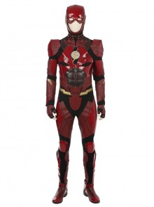 Justice League The Flash Barry Allen Halloween Cosplay Costume Full Set
