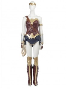 Justice League Wonder Woman Diana Prince Halloween Cosplay Costume Upgraded Version Full Set