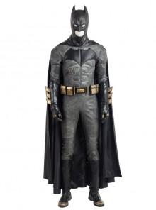 Justice League Batman Bruce Wayne Battle Suit Halloween Cosplay Costume Full Set