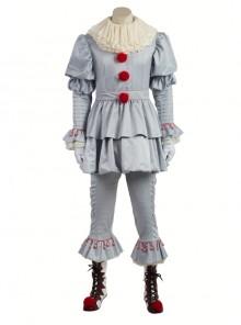 It Pennywise Gray Joker Suit Halloween Cosplay Costume Full Set