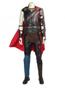 Thor Ragnarok Thor Odinson Black Vest Battle Suit Halloween Cosplay Costume Full Set