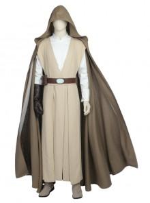 Star Wars The Last Jedi Luke Skywalker Halloween Cosplay Costume khaki Cloak Full Set
