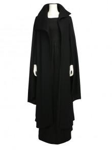 Star Wars The Last Jedi Leia Organa Solo Halloween Cosplay Costume Black Dress Full Set