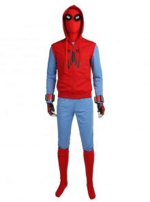 Spider-Man Homecoming Spider-Man Peter Parker Halloween Cosplay Costume Hoodie Full Set