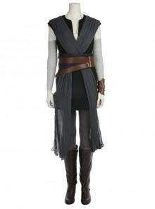 Star Wars The Last Jedi Rey Skywalker Halloween Cosplay Costume Black Vest Full Set