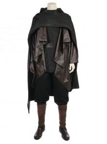 Star Wars The Last Jedi Luke Skywalker Halloween Cosplay Costume Black Cloak Full Set