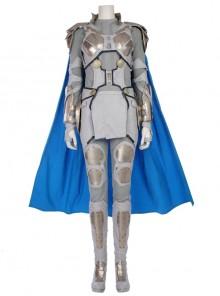 Thor Ragnarok Valkyrie White Battle Suit Halloween Cosplay Costume Full Set