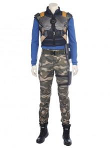 Black Panther Erik Killmonger Halloween Cosplay Costume Camouflage Clothing Full Set