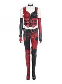 Game Batman Arkham City Harley Quinn Halloween Cosplay Costume Full Set