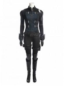 Avengers Infinity War Black Widow Same Black Bodysuit Halloween Cosplay Costume Full Set