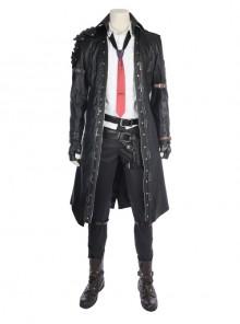 Playerunknown's Battlegrounds Male Role Halloween Cosplay Costume Black Windbreaker Full Set
