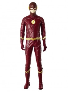 The Flash Season 4 The Flash Barry Allen Battle Suit Halloween Cosplay Costume Full Set