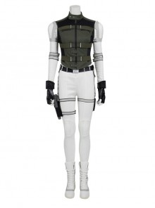 Black Widow Yelena Belova White Bodysuit Set Halloween Cosplay Costume Full Set