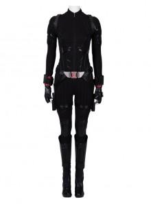 Avengers Endgame Black Widow Natasha Romanoff Black Battle Suit Halloween Cosplay Costume Full Set