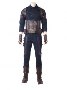 Avengers Infinity War Captain America Steve Rogers Battle Suit Halloween Cosplay Costume Full Set