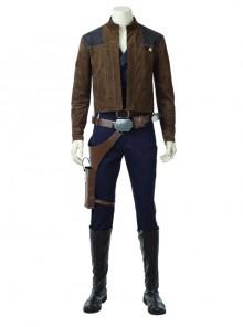 Star Wars Han Solo Brown Jacket Suit Halloween Cosplay Costume Full Set