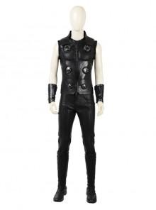 Avengers Infinity War Thor Thor Odinson Halloween Cosplay Costume Black Vest Suit Full Set