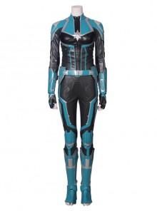 Captain Marvel Carol Danvers Green Battle Suit Halloween Cosplay Costume Full Set