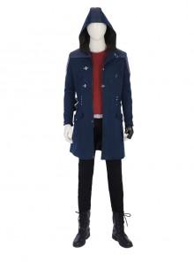 Devil May Cry 5 Nero Hooded Windbreaker Suit Halloween Cosplay Costume Full Set