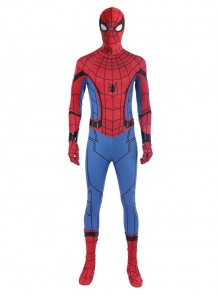 Spider-Man Homecoming Spider-Man Peter Parker Sock Covers Version Battle Suit Halloween Cosplay Costume Full Set