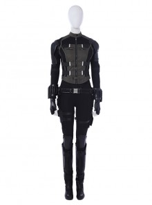 Avengers Infinity War Black Widow Army Green Version Battle Suit Halloween Cosplay Costume Full Set