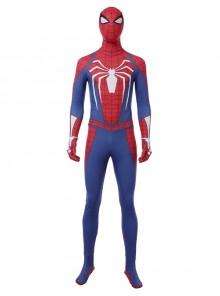 PS4 Game Version Spider-Man Peter Parker Battle Suit Halloween Cosplay Costume Full Set