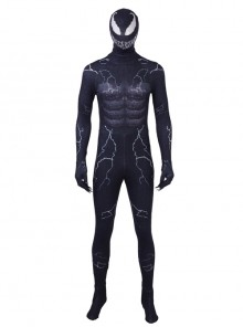 Venom Black Bodysuit Halloween Cosplay Costume Full Set