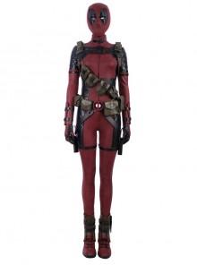 Comics Lady Deadpool Wanda Wilson Halloween Cosplay Costume Full Set Without Headgear
