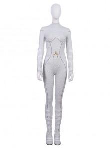 Aquaman Queen Atlanna White Battle Suit Halloween Cosplay Costume Full Set
