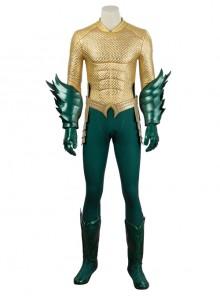 Aquaman Arthur Curry Battle Suit Halloween Cosplay Costume Full Set