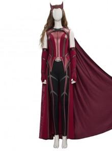 Wanda Vision Scarlet Witch Wanda Django Maximoff Battle Suit Halloween Cosplay Costume Second Version Full Set