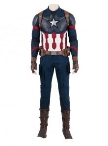 Avengers Endgame Captain America Steve Rogers Battle Suit Halloween Cosplay Costume Full Set Without Hat